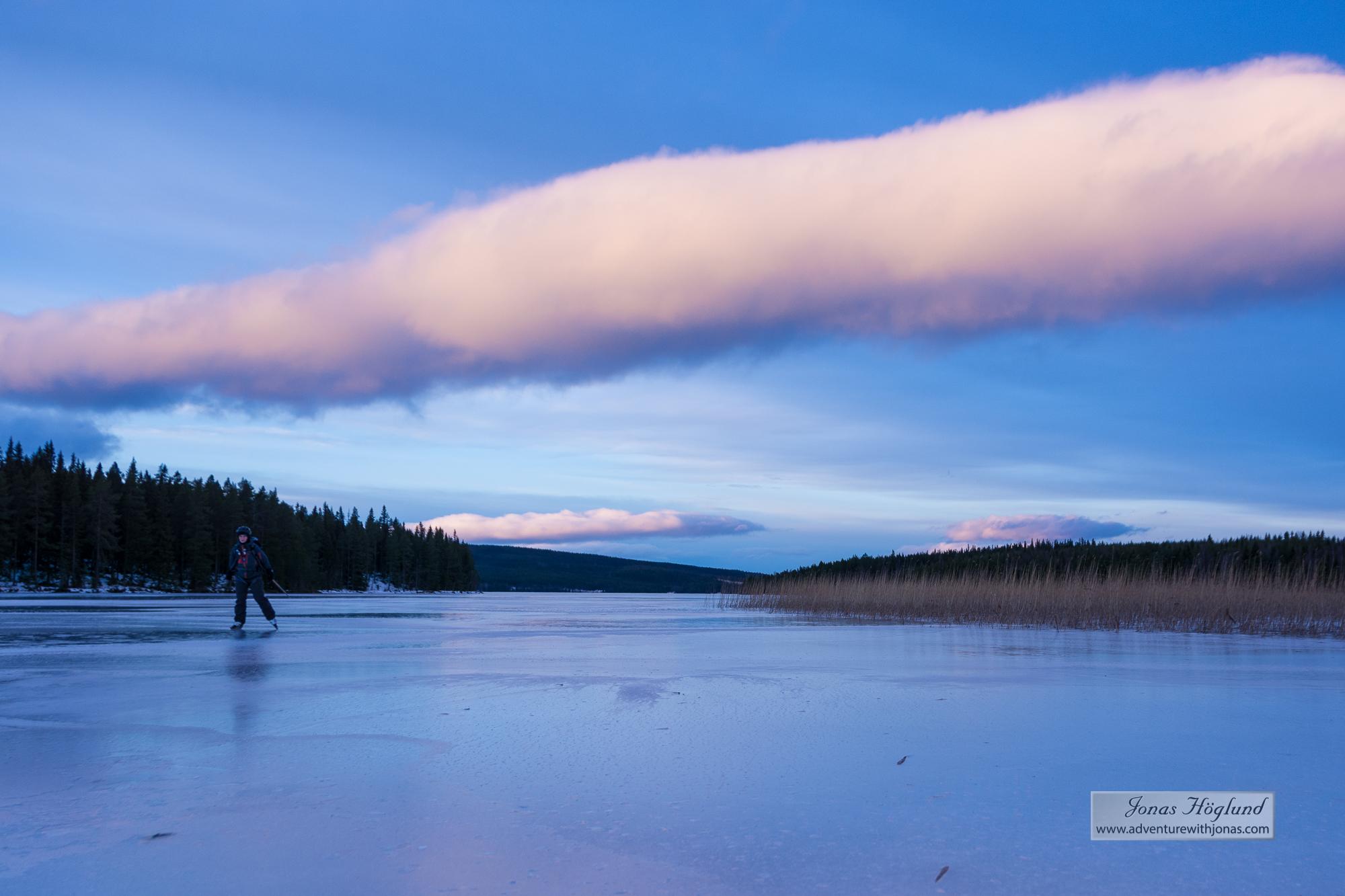 Skridskotur på Sällsjön